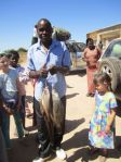 A string of fish for Hudson to take back to Lusaka